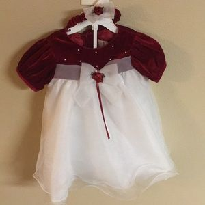 Rare Editions Red White Dress 24M